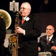 Jean Lespinasse au saxophone ténor et Jacques Francesini à la caisse claire – photo Anna Solé